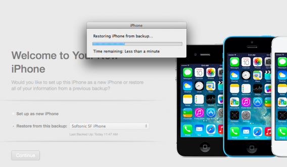 Mac OS X restore from iTunes