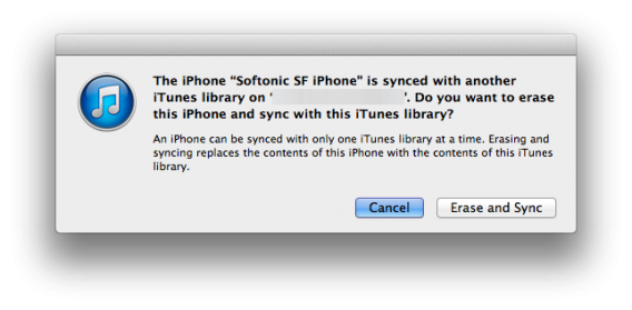 Mac OS X sync iTunes music library