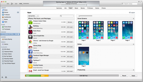 Mac OS X syncing apps with iOS