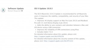 OS X 10.9.3 update available now, improves support for 4K displays and more