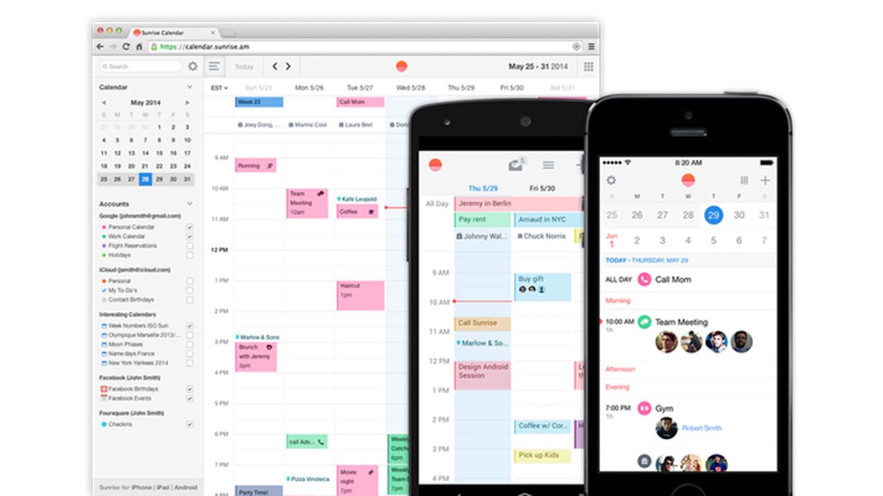 Sunrise smart calendar now available on Mac