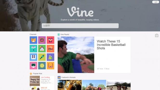 Vine web header