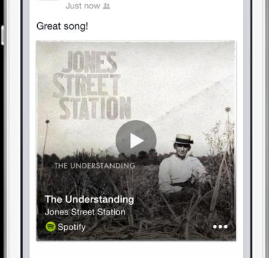 Facebook music sharing