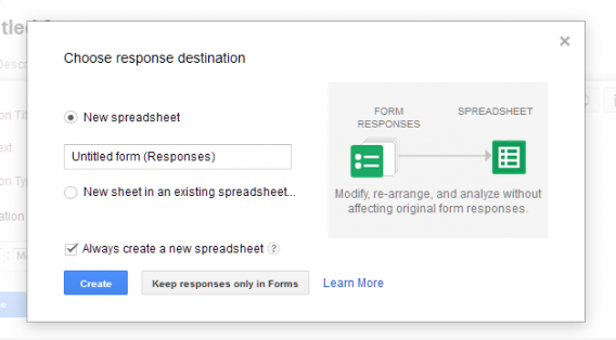 Google Forms responses in Google Sheets