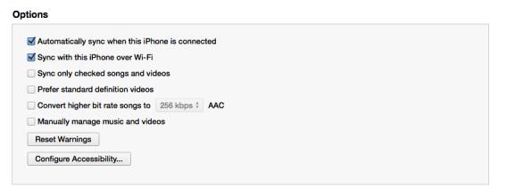 iOS sync over Wi-Fi