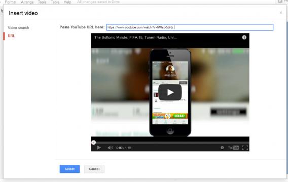Google Presentation video