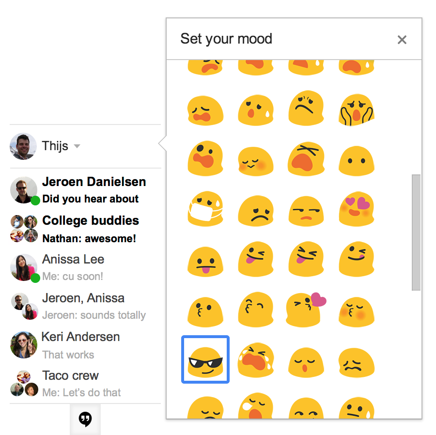 Improved Status And Mood Indicators Come To Google
