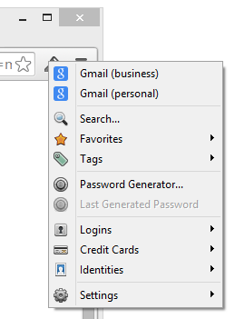 1Password extension