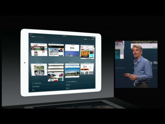 iOS 8 Safari tab view