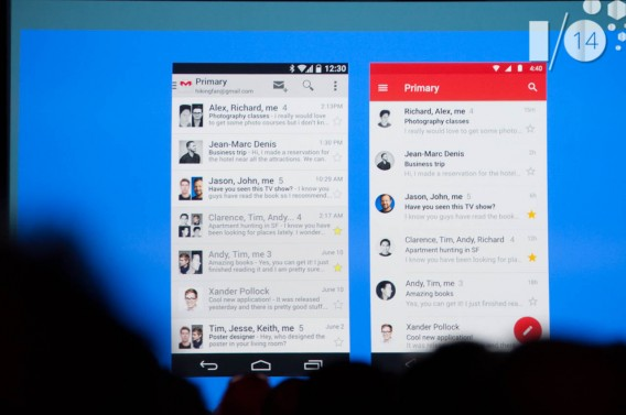 Android L Gmail redesign