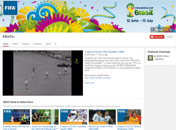 FIFA TV on YouTube