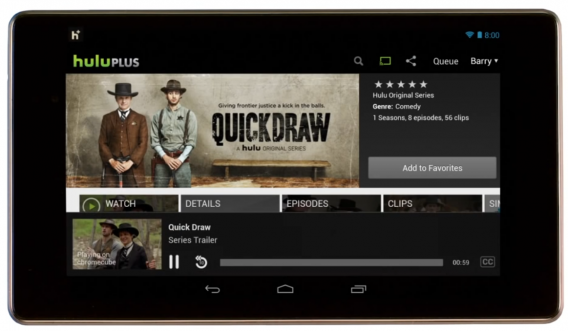 Hulu Plus on Android Chromecast