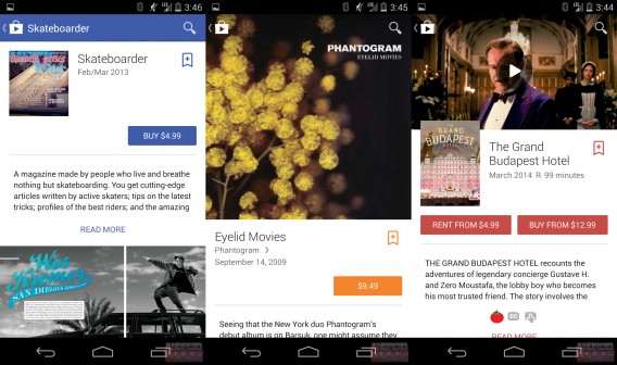 Google Play material design combined via Android Police