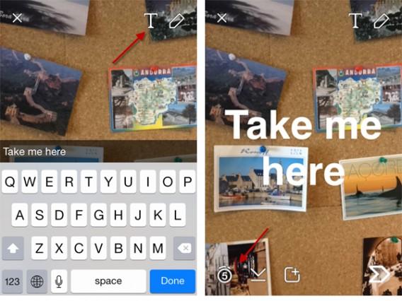 Prendre une photo avec snapchat