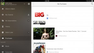 Movies purchased from Google Play now show up in YouTube