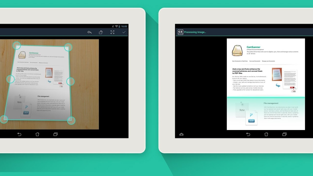 Scan documents with CamScanner