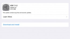 iOS 7.1.2 out now with bug fixes and security updates