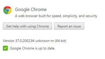 Chrome 64-bit about page
