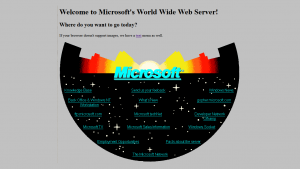 Microsoft has recreated its 1994 website for its 20th anniversary