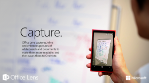 Office Lens scans your documents using your Windows Phone