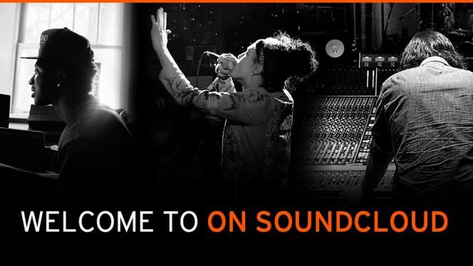 On SoundCloud header