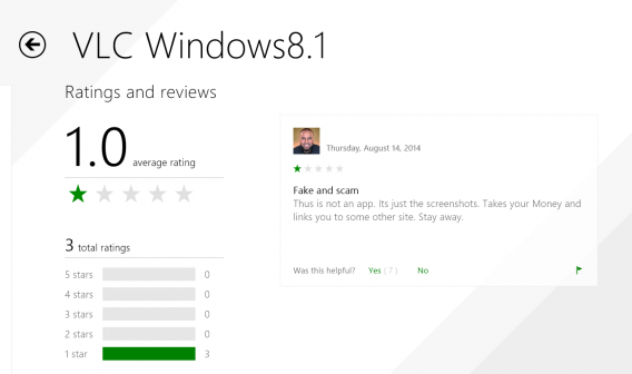 The Windows Store is full of fraudulent apps and Microsoft