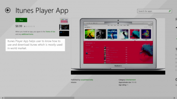 Fake iTunes apps in the Windows Store