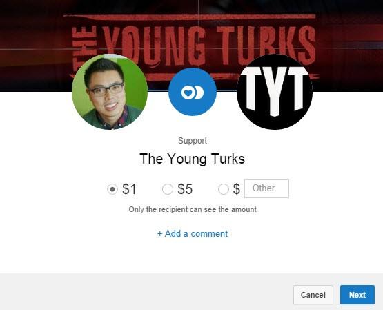YouTube doação