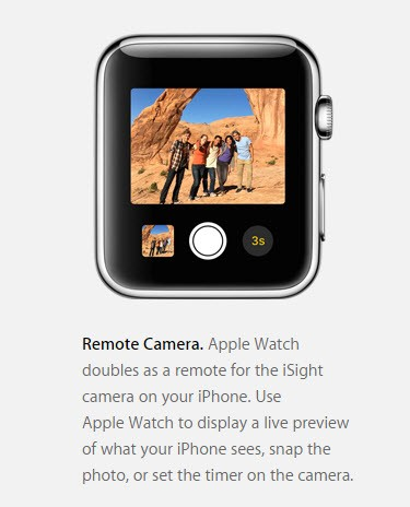 Apple Watch iPhone camera remote