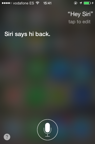 Hey Siri!