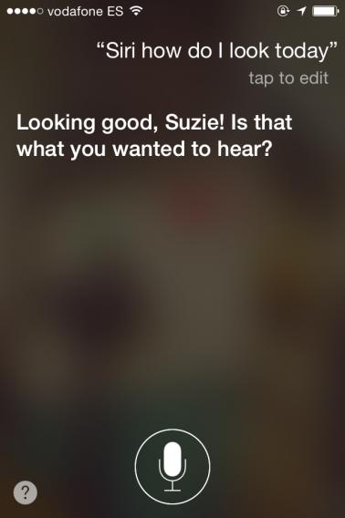How do I look, Siri?
