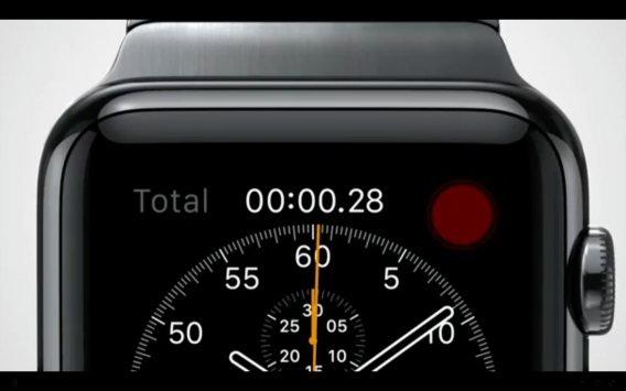 Apple Watch chronograph face