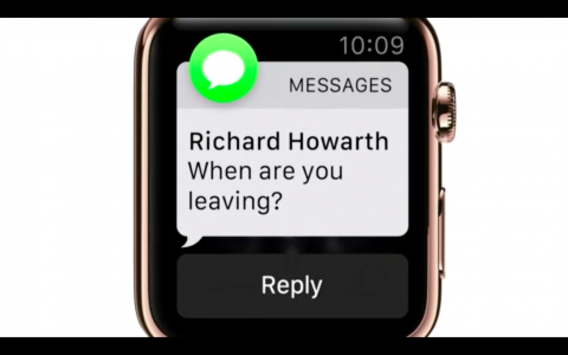 Apple Watch messaging reply