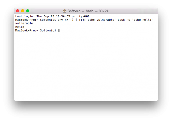 Mac terminal shellshock bash bug