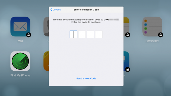Two step verification for iCloud