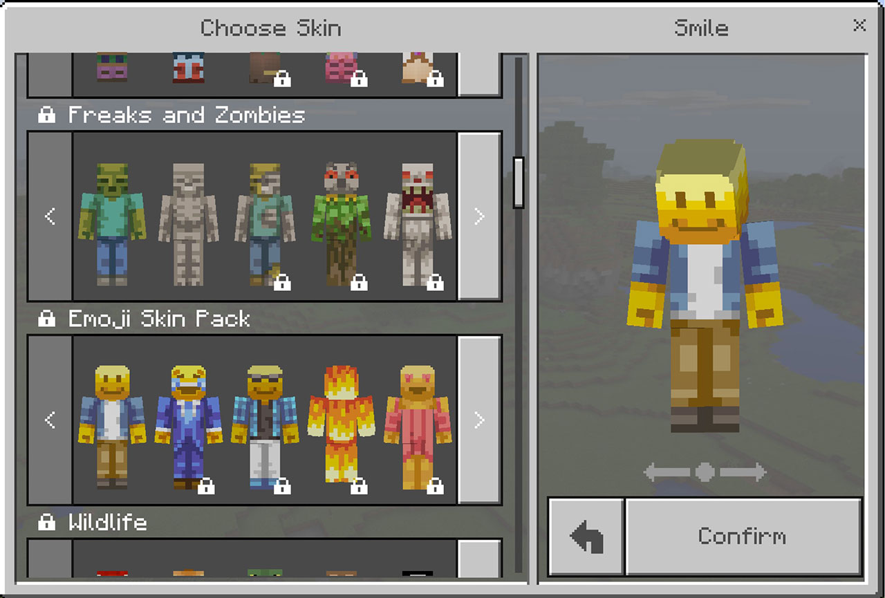 Minecraft Skins Chooser Happy Emoji