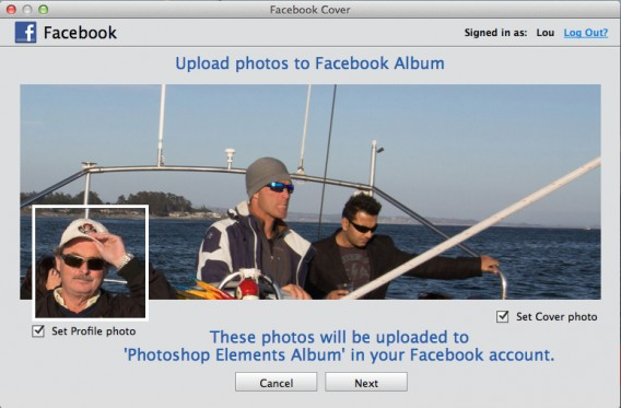 Facebook Cover Photo preview Adobe Photoshop Elements 13