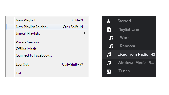 spotify new playlist folder