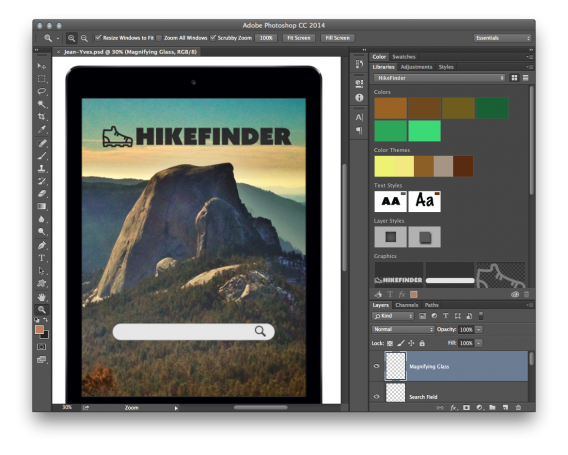 Adobe Creative Cloud libraries in Photoshop