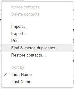 Gmail find and merge duplicates