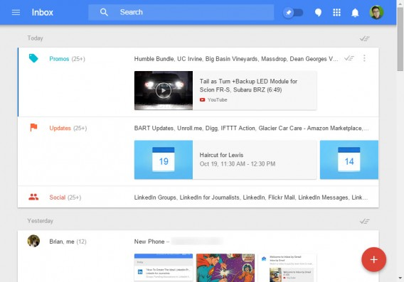 Google Inbox desktop