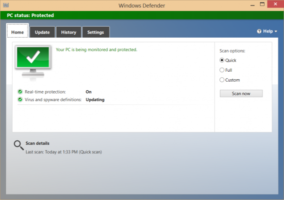 Windows Defender home