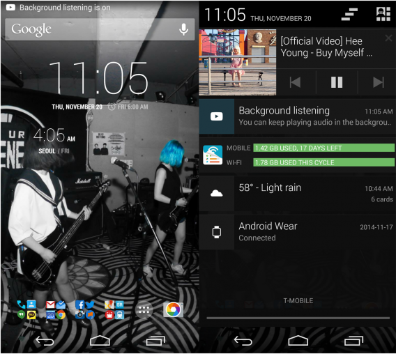 YouTube Music Key Android 5.0 background playback