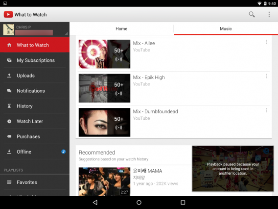 Youtube for Android with YouTube Music Key