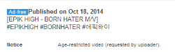 YouTube Music Key Ad-free EPIK HIGH Born Hater