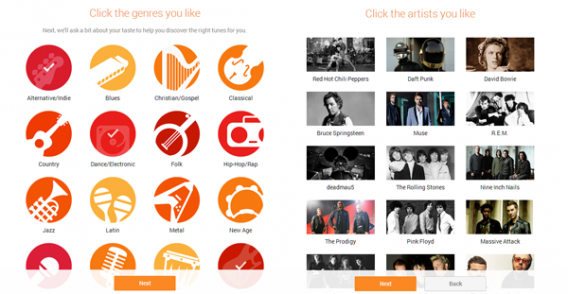 google play music all access genres artists