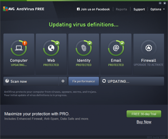 AVG free antivirus home