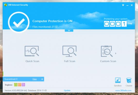 Qihoo 360 Internet Security home