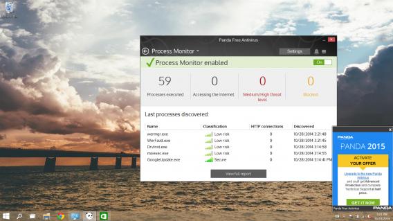 Panda Free Antivirus notification nag