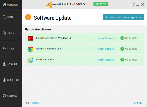 Avast 2015 software updater